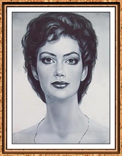 черно-белый портрет по фото
